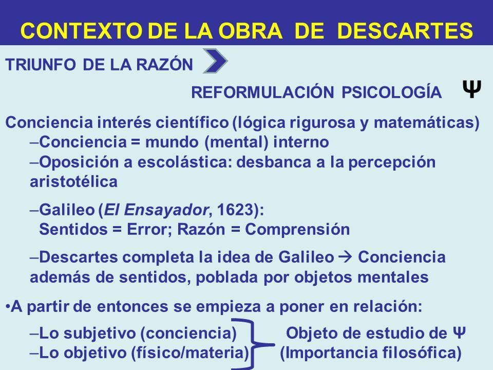 CONTEXTO DE LA OBRA DE DESCARTES