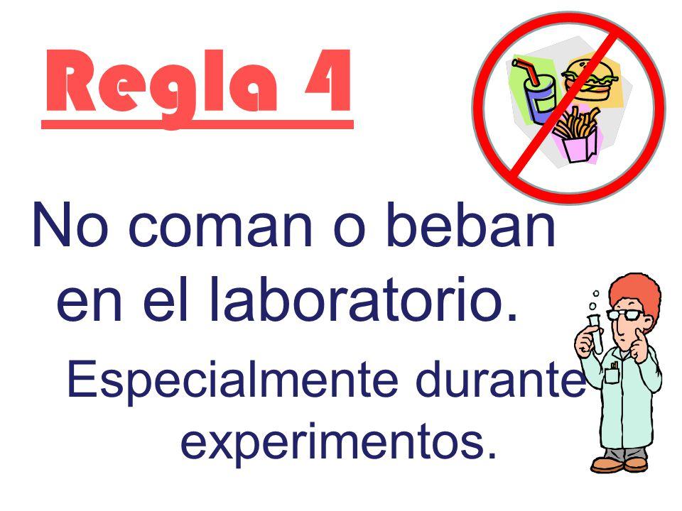 Especialmente durante experimentos.