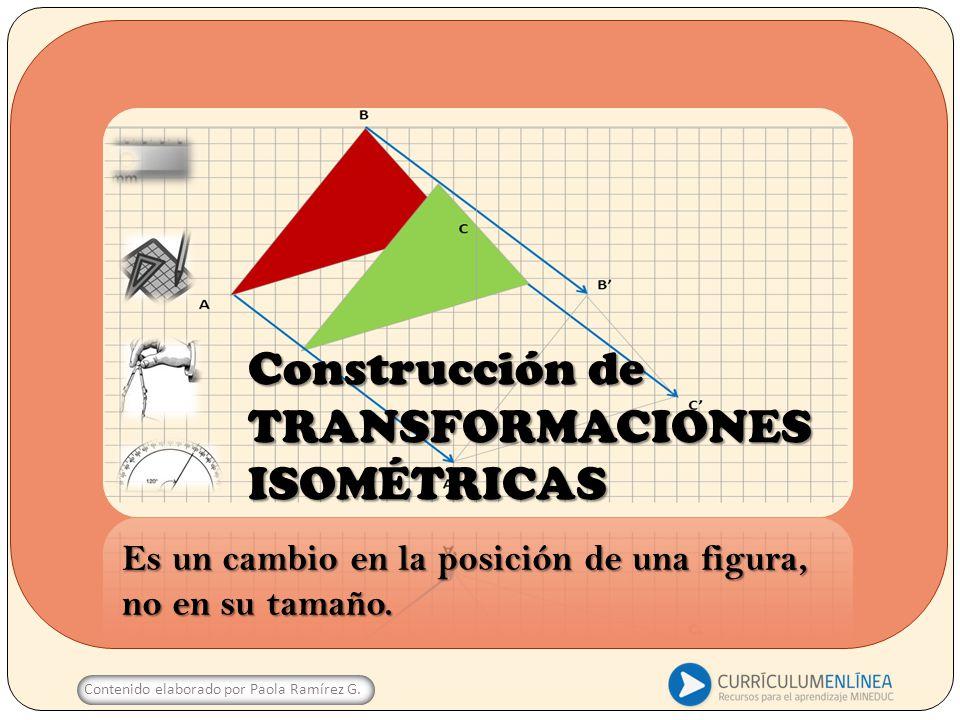 Construcción de TRANSFORMACIONES ISOMÉTRICAS