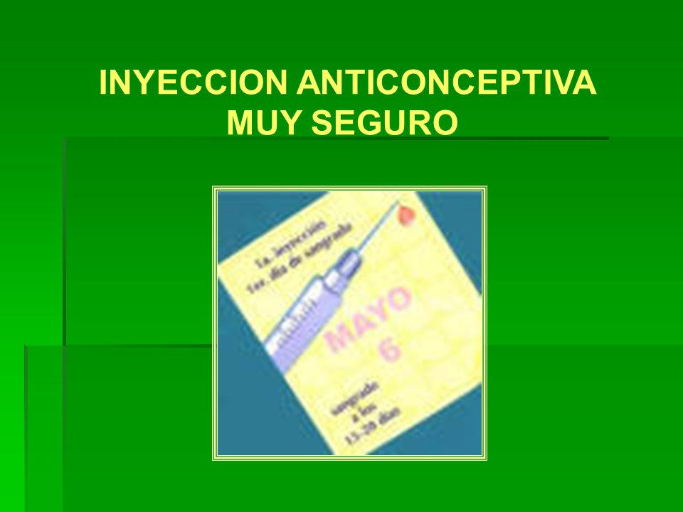 INYECCION ANTICONCEPTIVA