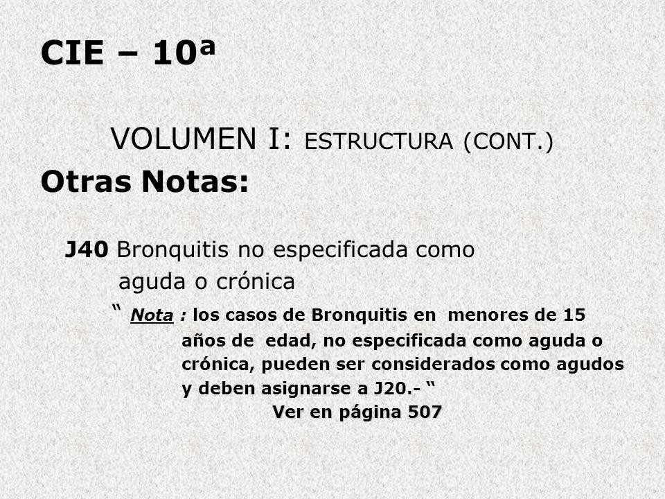 VOLUMEN I: ESTRUCTURA (CONT.)