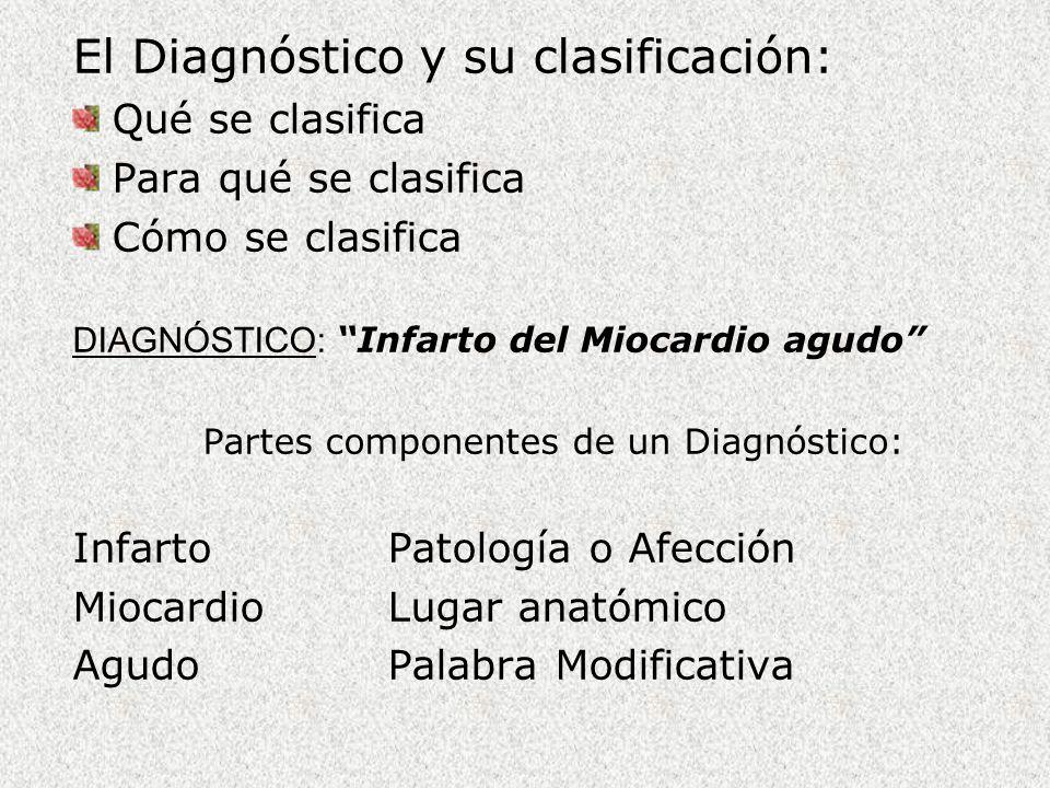 Partes componentes de un Diagnóstico:
