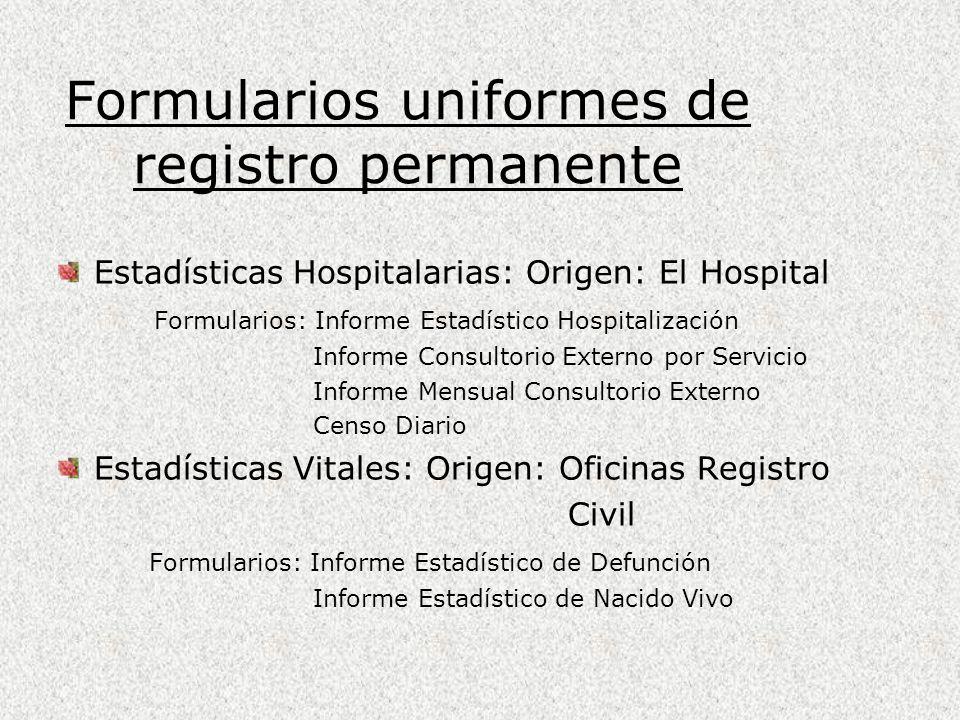 Formularios uniformes de registro permanente