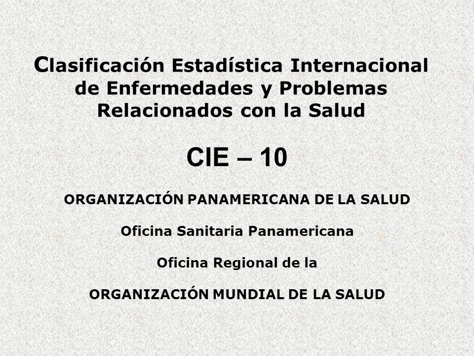 Clasificación Estadística Internacional de Enfermedades y Problemas Relacionados con la Salud