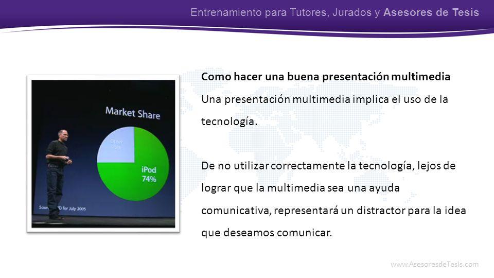 Como hacer una buena presentación multimedia