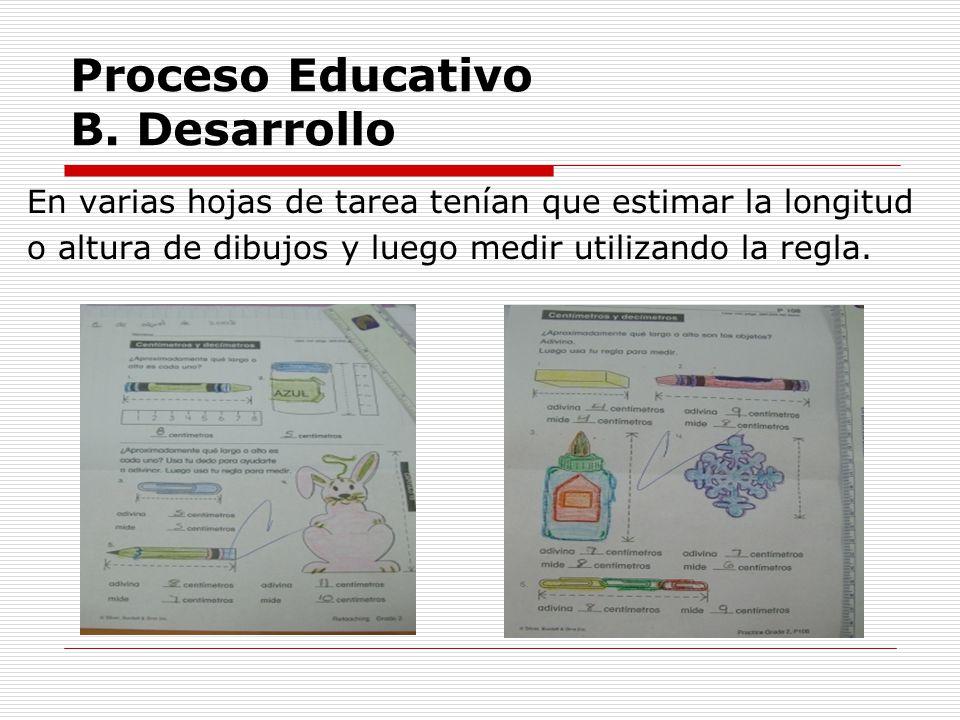 Proceso Educativo B. Desarrollo