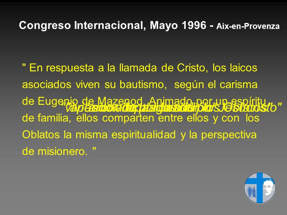 Congreso Internacional, Mayo 1996 - Aix-en-Provenza