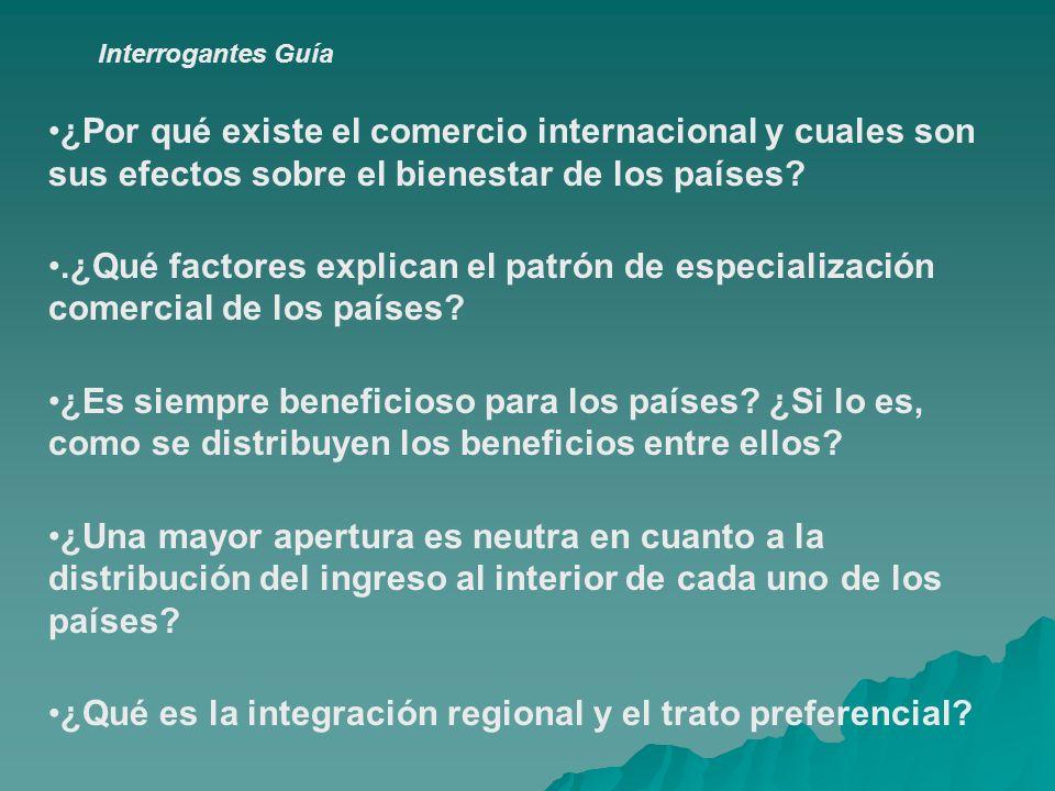 ¿Qué es la integración regional y el trato preferencial