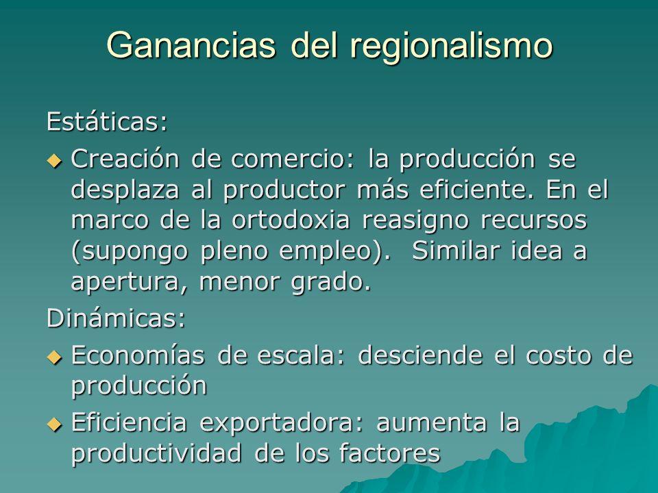 Ganancias del regionalismo