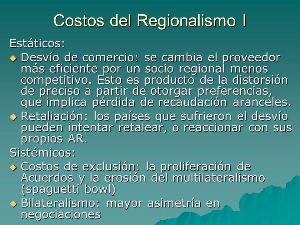 Costos del Regionalismo I
