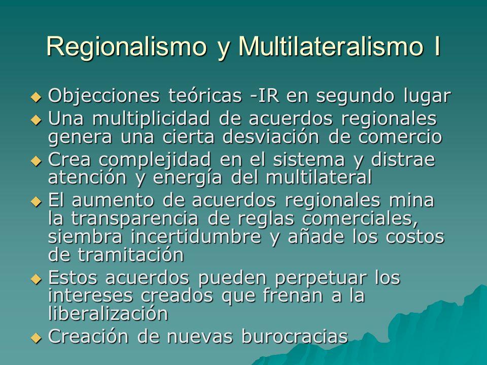 Regionalismo y Multilateralismo I