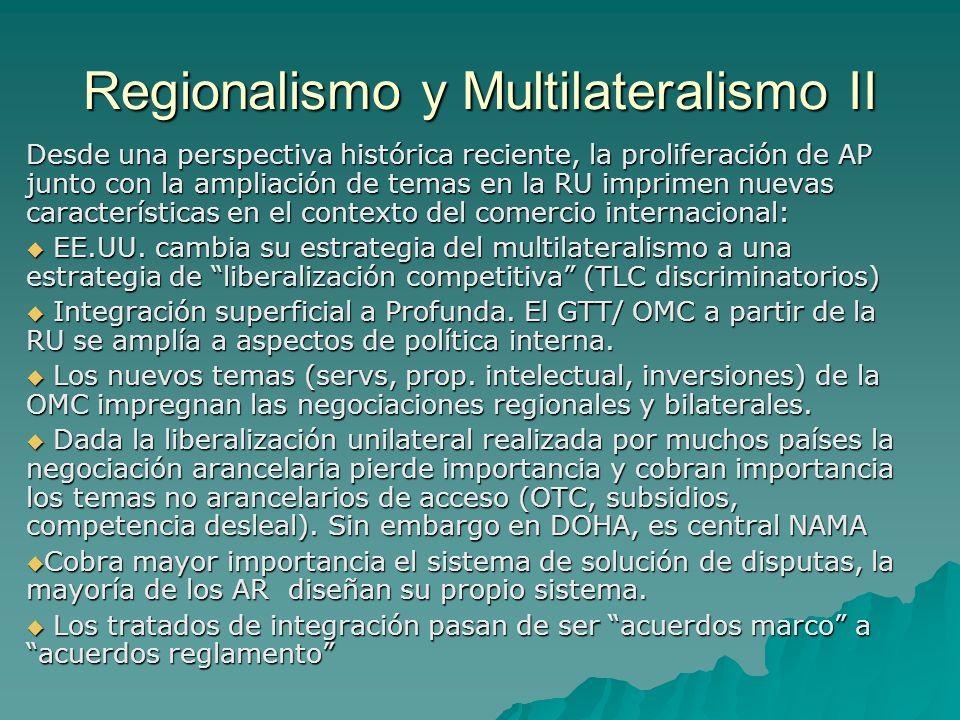 Regionalismo y Multilateralismo II