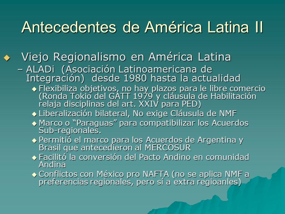 Antecedentes de América Latina II