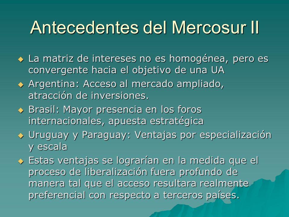 Antecedentes del Mercosur II