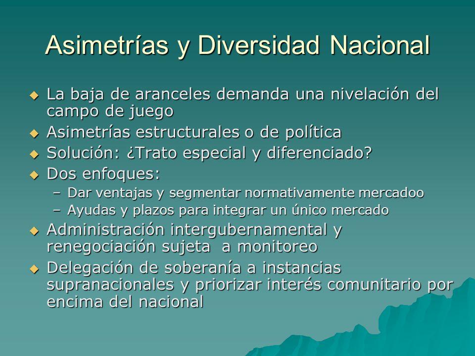 Asimetrías y Diversidad Nacional