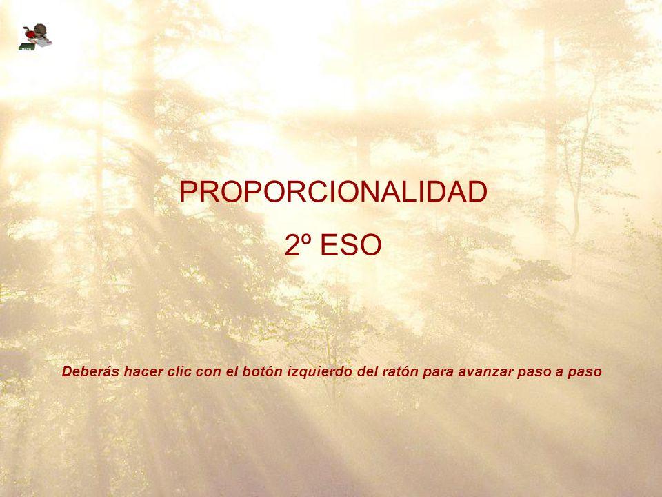 PROPORCIONALIDAD 2º ESO