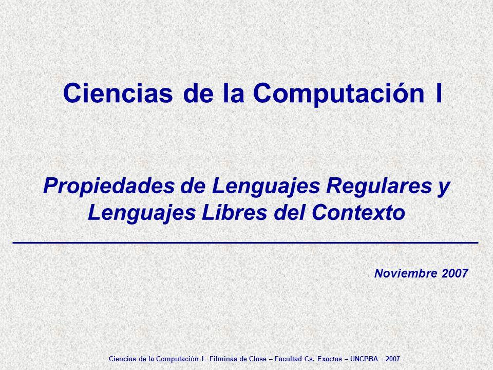 Ciencias de la Computación I