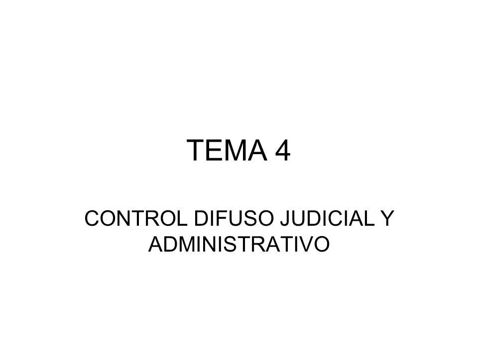 CONTROL DIFUSO JUDICIAL Y ADMINISTRATIVO