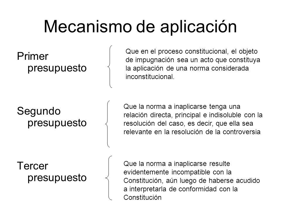 Mecanismo de aplicación