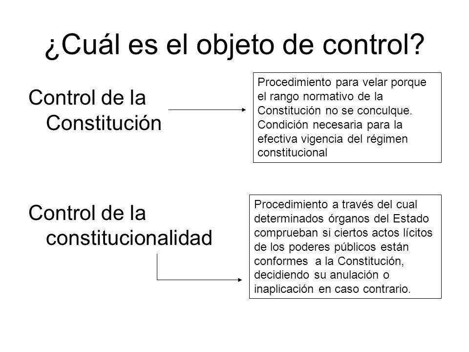 ¿Cuál es el objeto de control