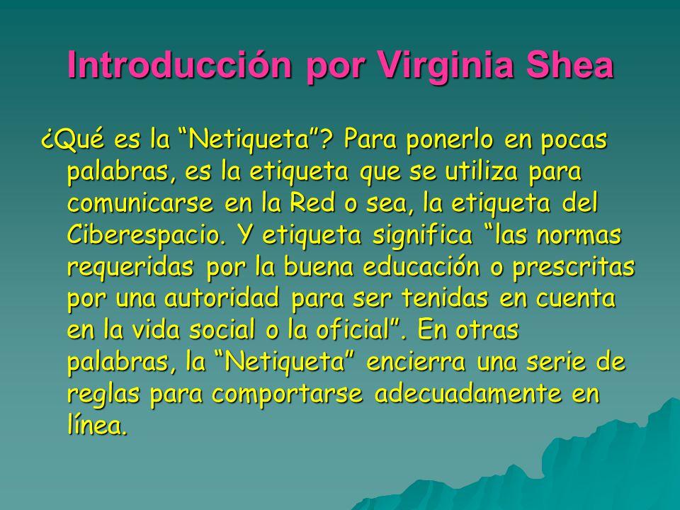 Introducción por Virginia Shea