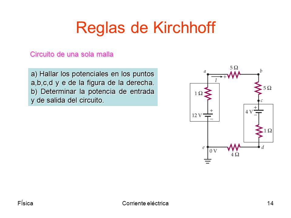 Reglas de Kirchhoff Circuito de una sola malla