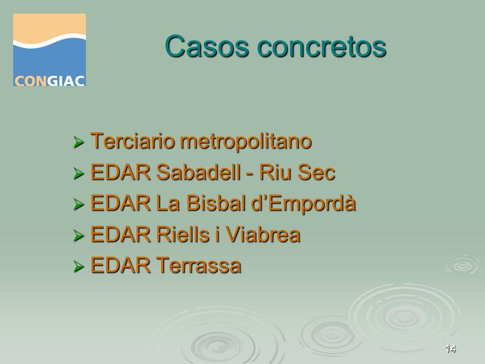 Casos concretos Terciario metropolitano EDAR Sabadell - Riu Sec