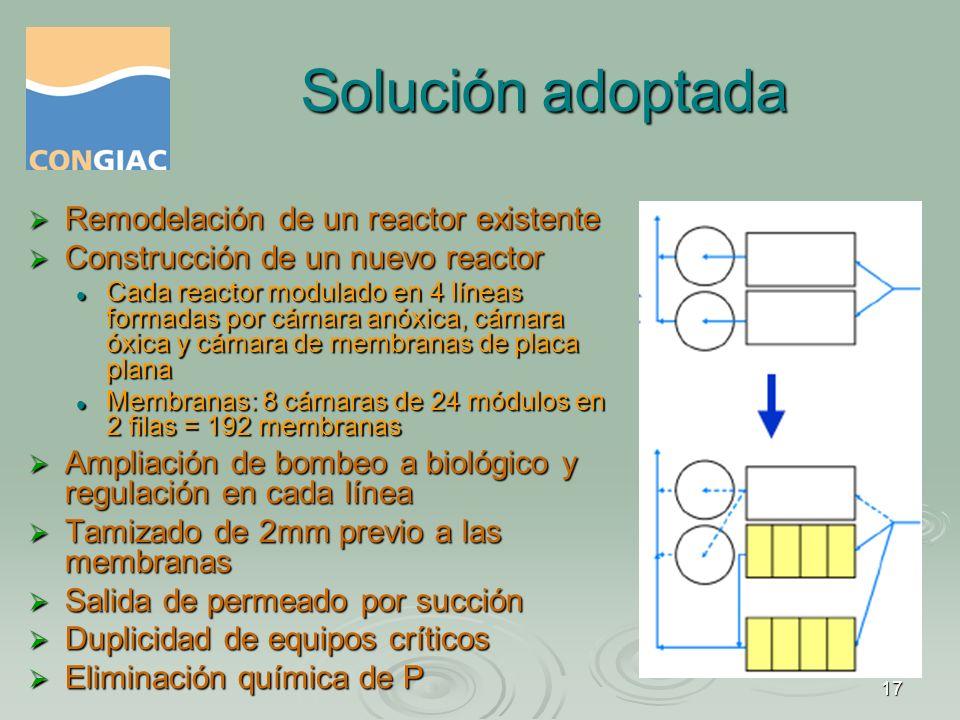 Solución adoptada Remodelación de un reactor existente