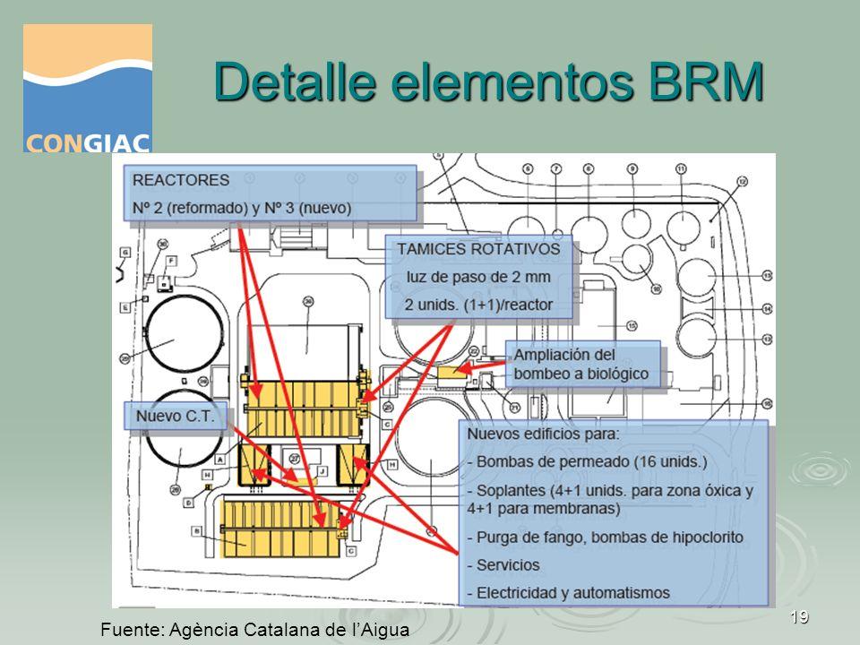 Detalle elementos BRM Fuente: Agència Catalana de l'Aigua