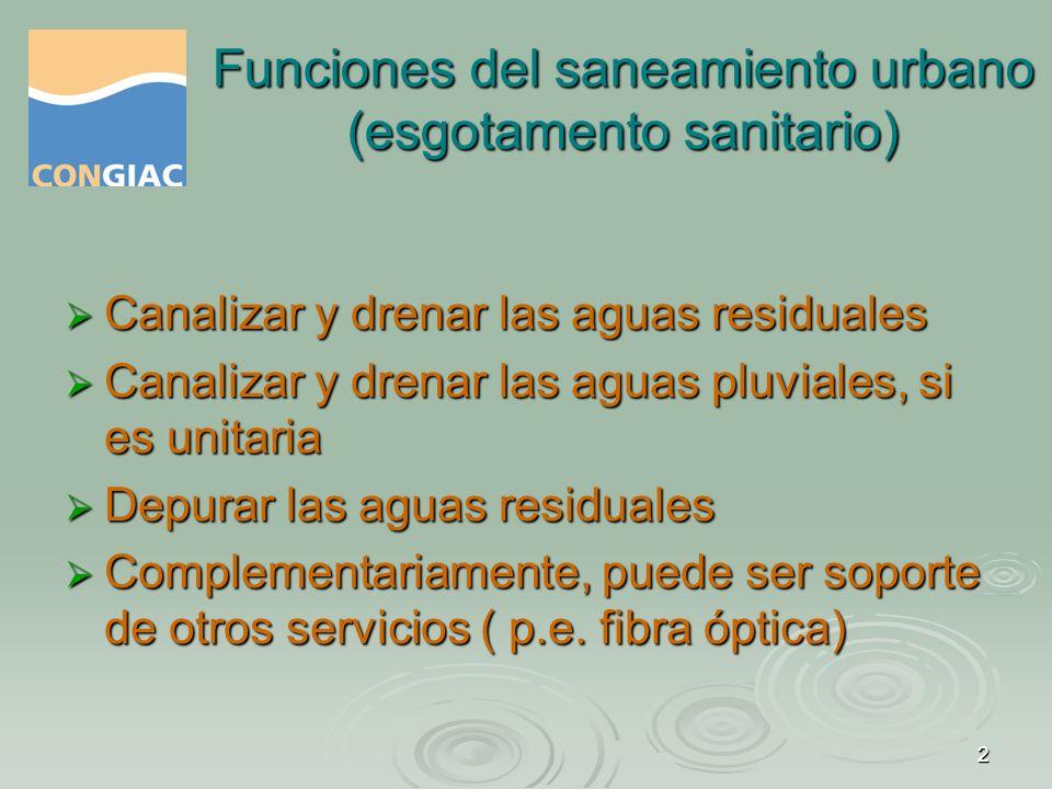 Funciones del saneamiento urbano (esgotamento sanitario)