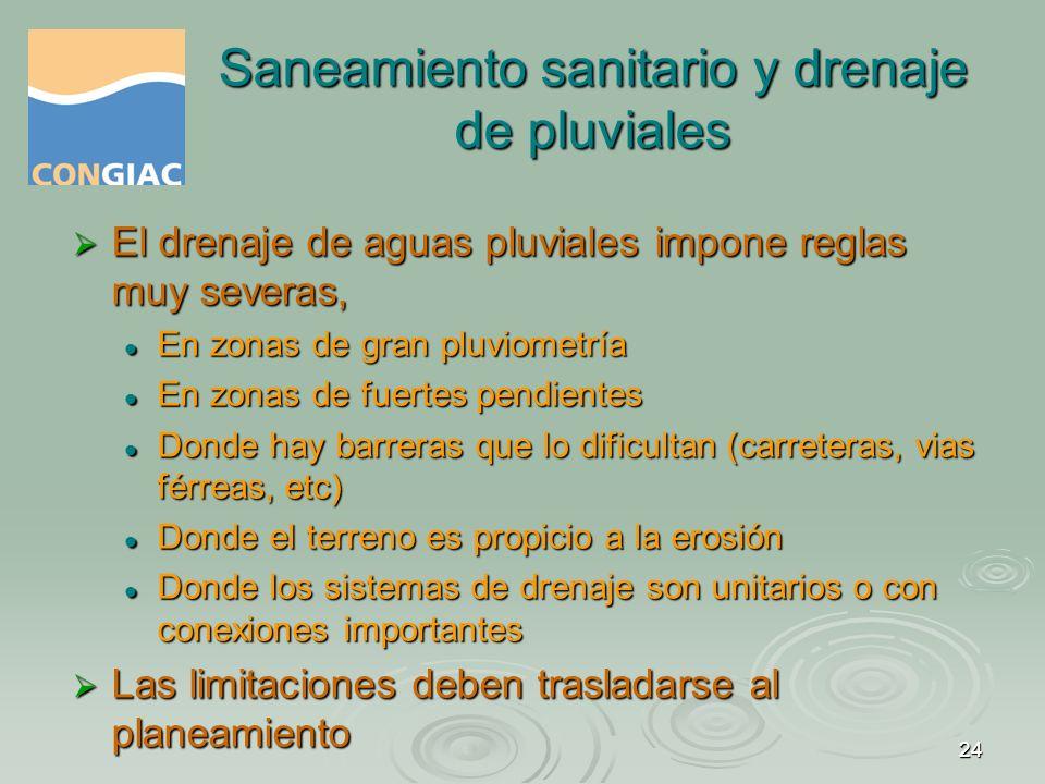 Saneamiento sanitario y drenaje de pluviales