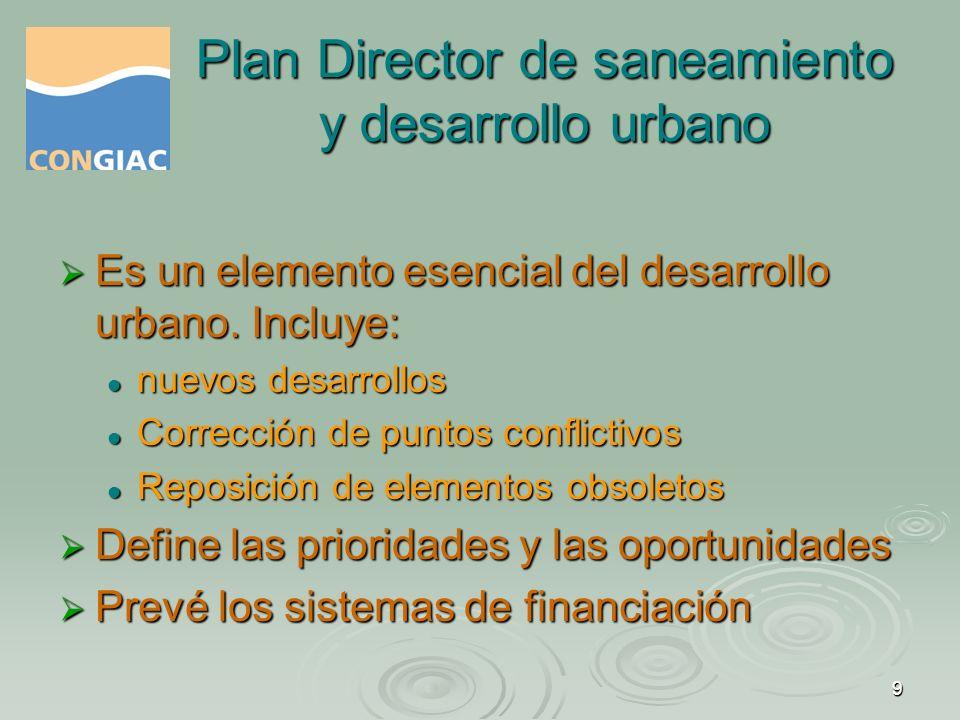 Plan Director de saneamiento y desarrollo urbano