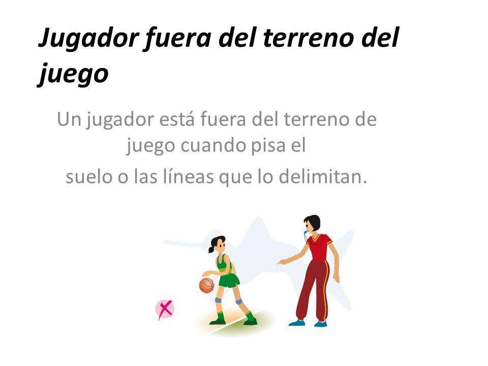 Reglamento oficial de minibasket ppt video online descargar for Balon fuera de juego
