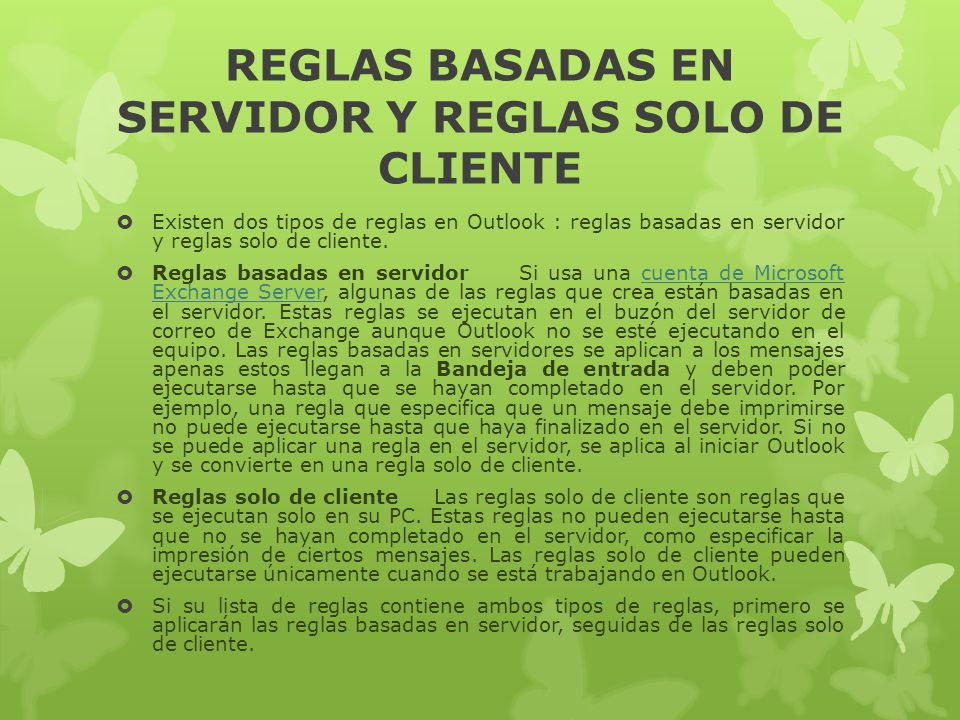 REGLAS BASADAS EN SERVIDOR Y REGLAS SOLO DE CLIENTE
