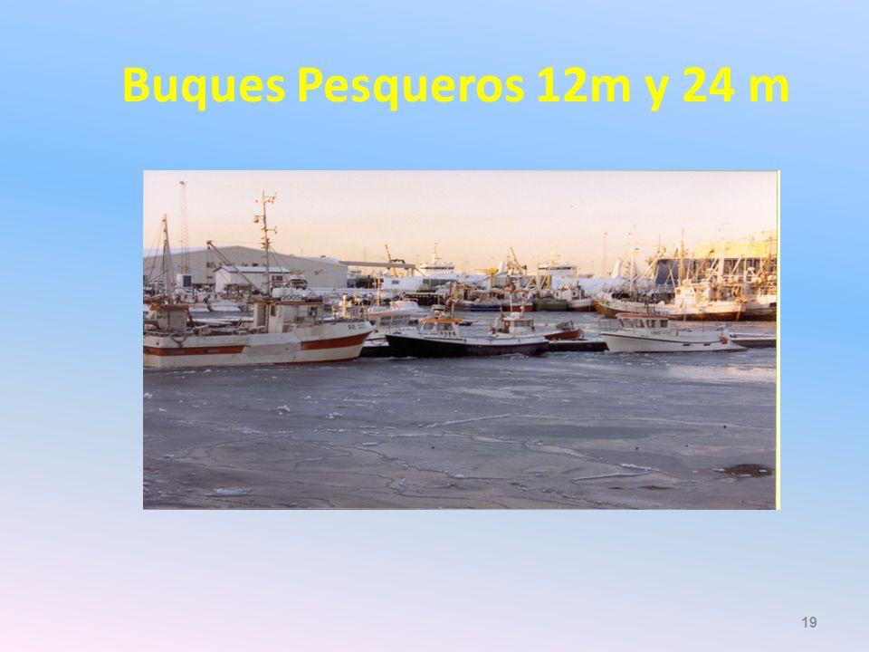 Buques Pesqueros 12m y 24 m