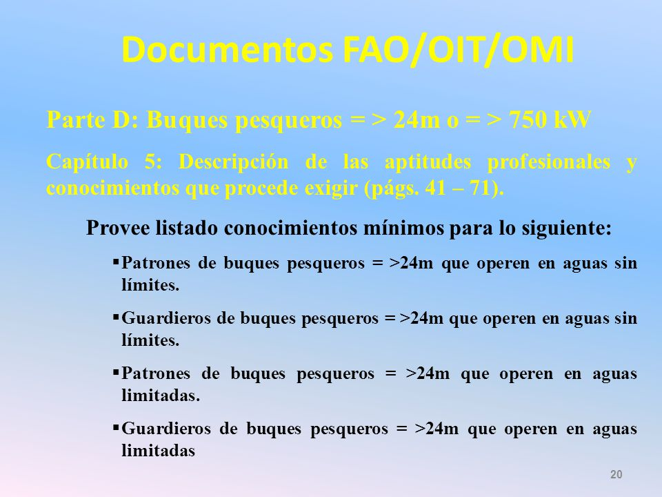 Documentos FAO/OIT/OMI