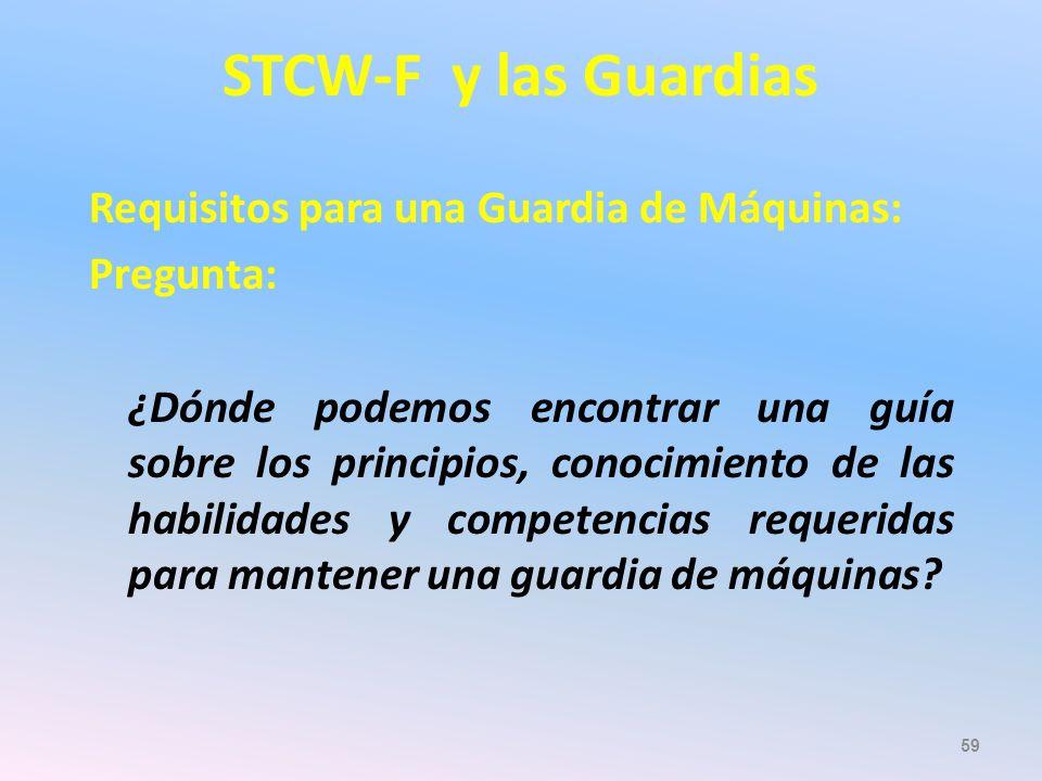 STCW-F y las Guardias