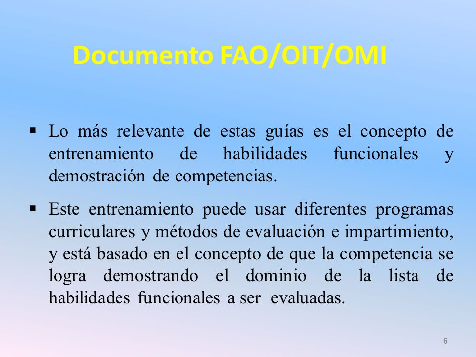 Documento FAO/OIT/OMI