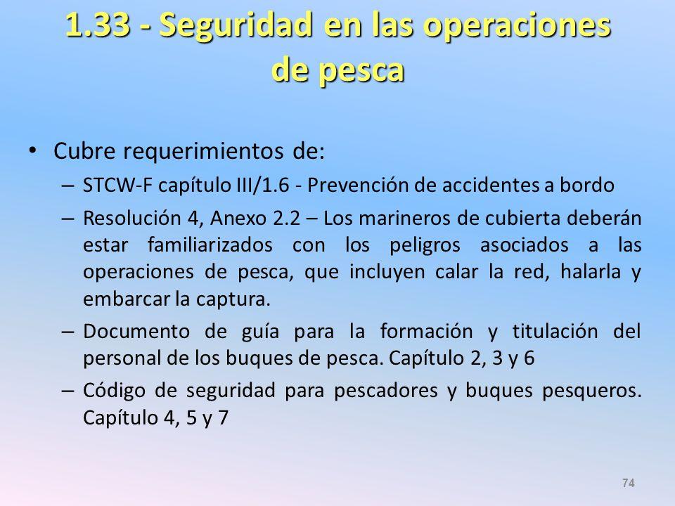 1.33 - Seguridad en las operaciones de pesca