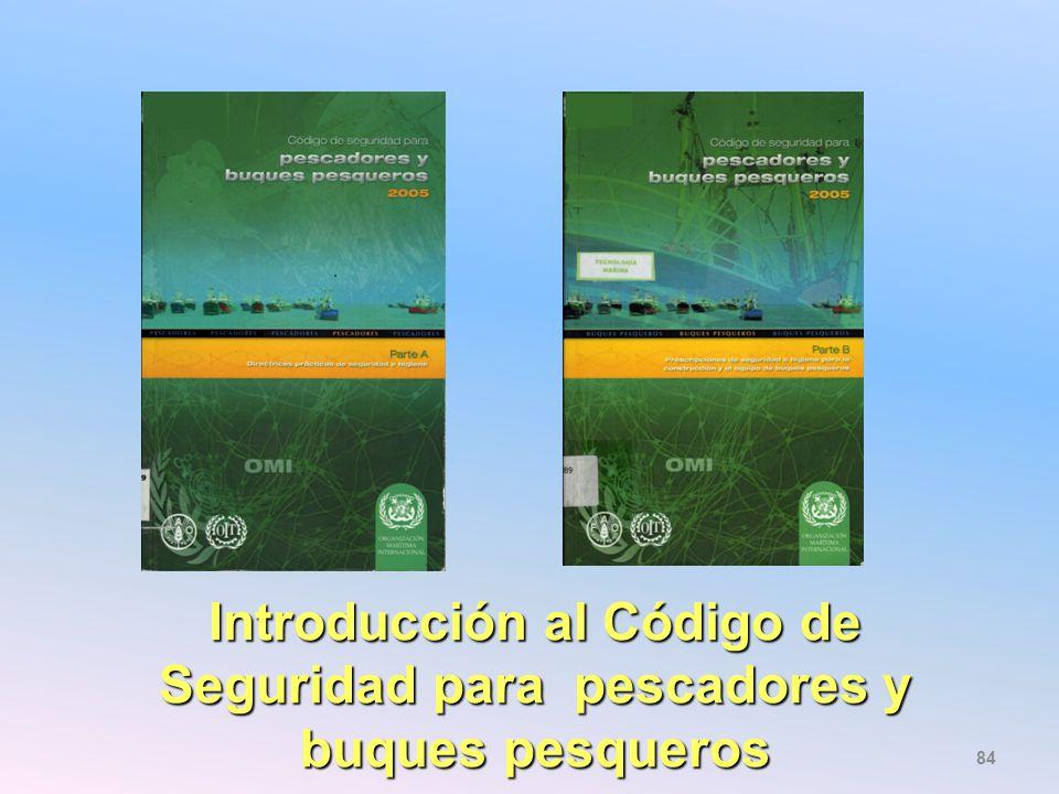 Introducción al Código de Seguridad para pescadores y buques pesqueros