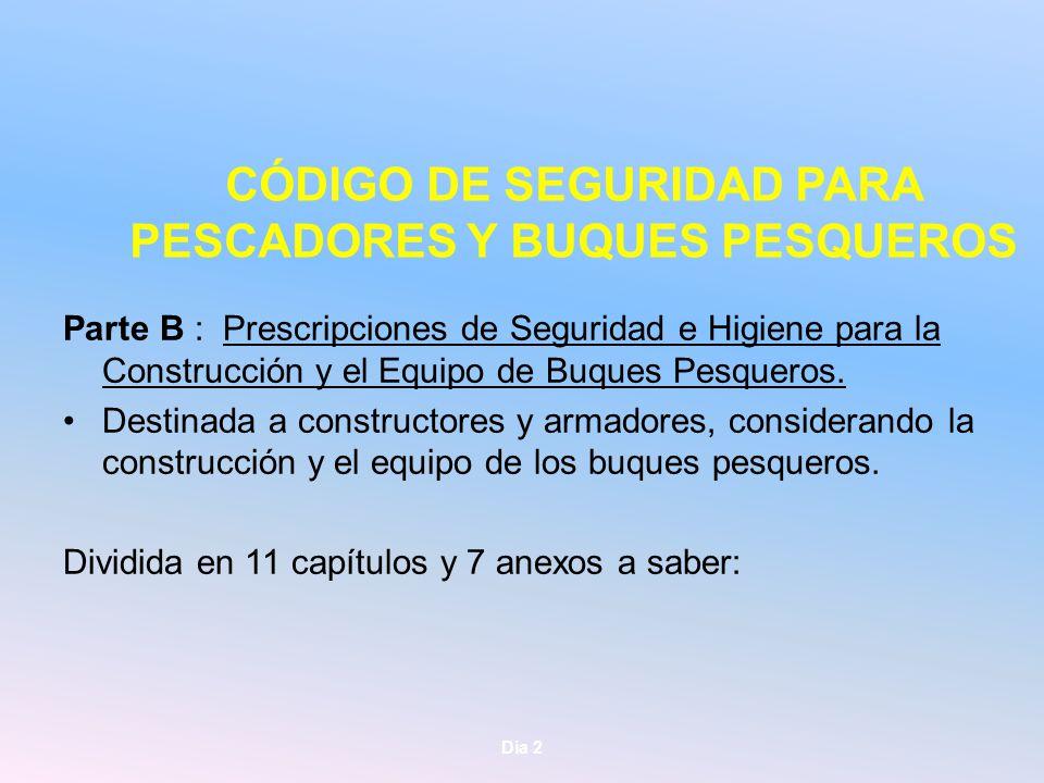 CÓDIGO DE SEGURIDAD PARA PESCADORES Y BUQUES PESQUEROS