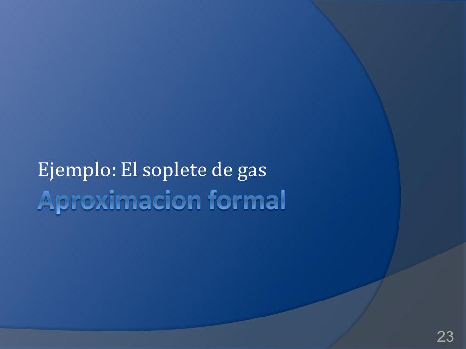 2017/4/8 Ejemplo: El soplete de gas Aproximacion formal