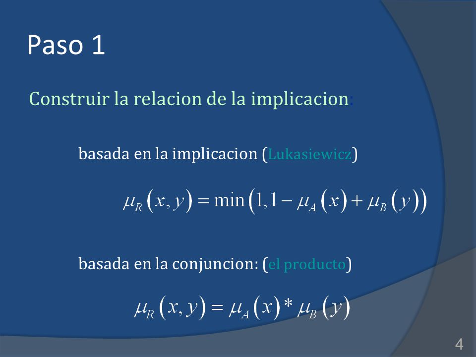 Paso 1 Construir la relacion de la implicacion: