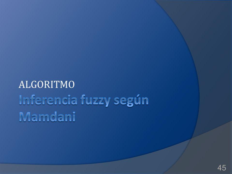 Inferencia fuzzy según Mamdani