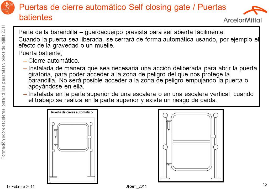 Puertas de cierre automático Self closing gate / Puertas batientes