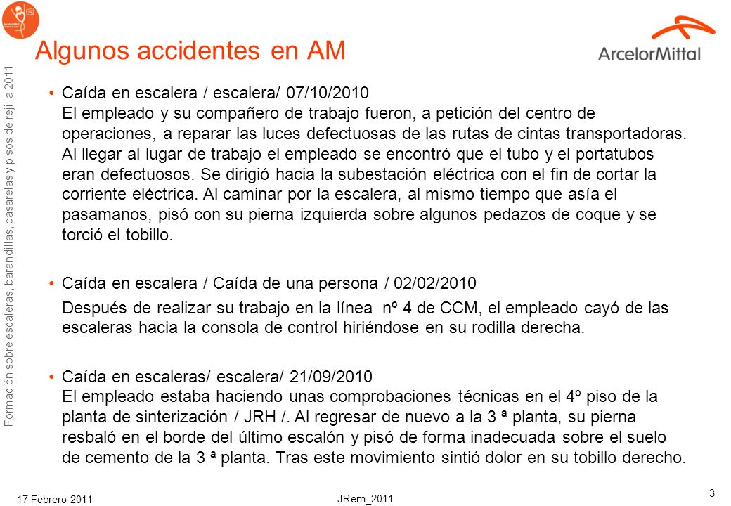 Algunos accidentes en AM