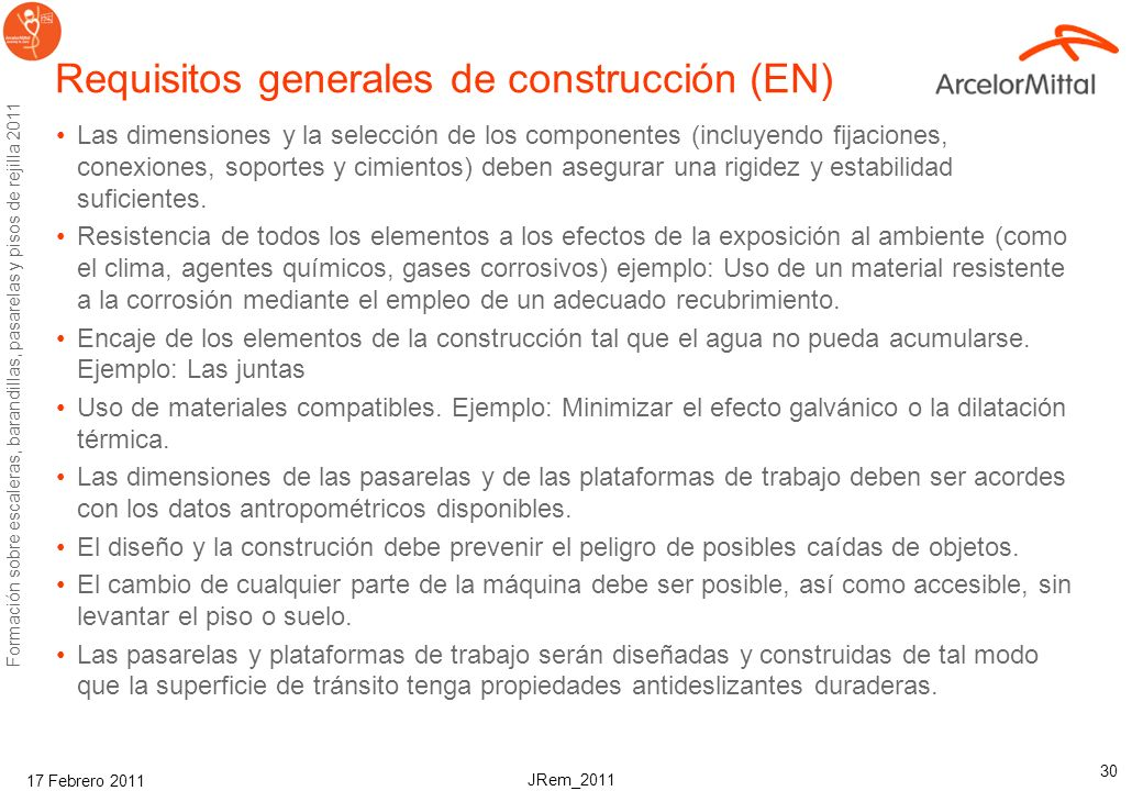 Requisitos generales de construcción (EN)