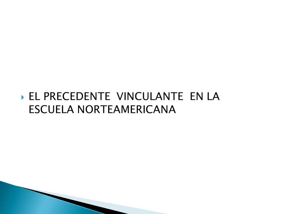 EL PRECEDENTE VINCULANTE EN LA ESCUELA NORTEAMERICANA