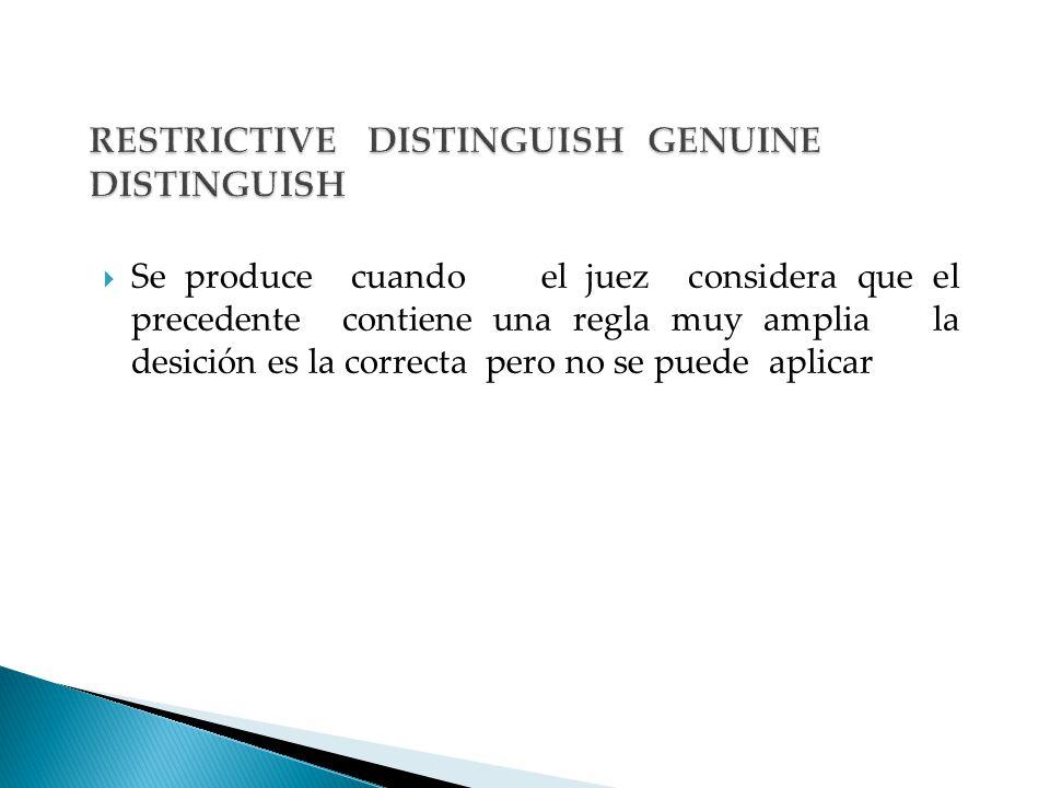RESTRICTIVE DISTINGUISH GENUINE DISTINGUISH