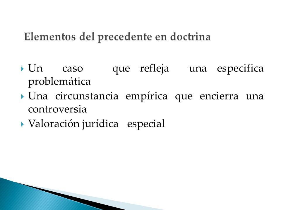 Elementos del precedente en doctrina
